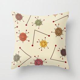 Atomic Era Autumn Throw Pillow