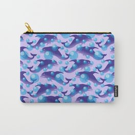 Dolphins under water #society6 #decor #buyart #artprint Carry-All Pouch