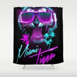 Miami Tiger Shower Curtain