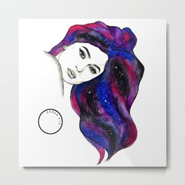 Water Colour And Pen & Ink Kylie Jenner Metal Print