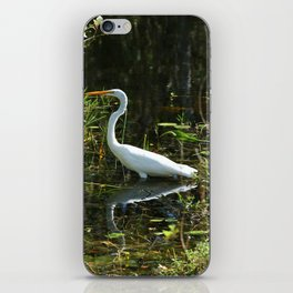 White Egret iPhone Skin
