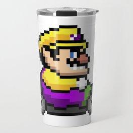 Wario pixel art Travel Mug