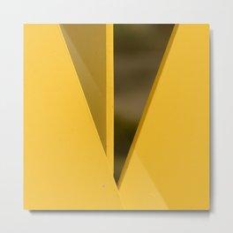 Modern Art Minimalist Geometric In Yellow Metal Print