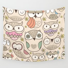 The owling Wall Tapestry