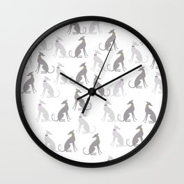 Whippet Pattern Wall Clock