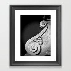French Scroll Framed Art Print