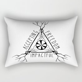 ACCEPTING - FREEDOM - IMPACTFUL Rectangular Pillow