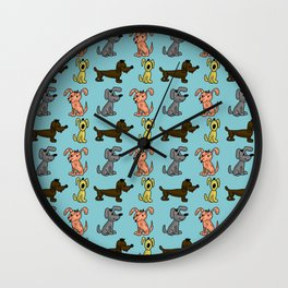 small dogs . art Wall Clock