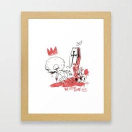 My little zombie Framed Art Print