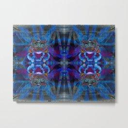 Butterfly mask geometry II Metal Print