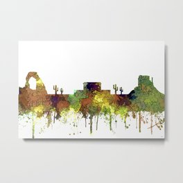 Mesa, Arizona Skyline - Safari Buff Metal Print