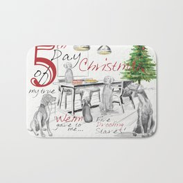 FIFTH DAY OF CHRISTMAS WEIMS Bath Mat
