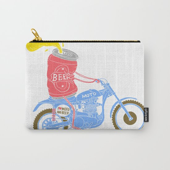I love moto and beer Carry-All Pouch
