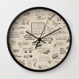 50 Ways To Enjoy The Day Wall Clock