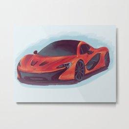 McLaren P1 - Orange  Metal Print
