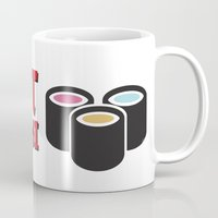 sushi Mugs featuring Sushi by flydesign