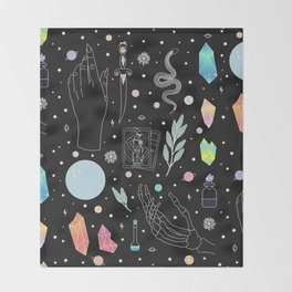 Crystal Witch Starter Kit - Illustration Throw Blanket