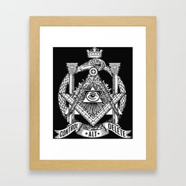 Secret Society Framed Art Print