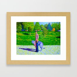 Portrait of Phil and Daniel Framed Art Print
