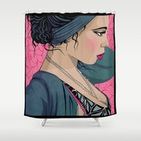 cook Shower Curtains featuring Hollie Cook by Mamakhol