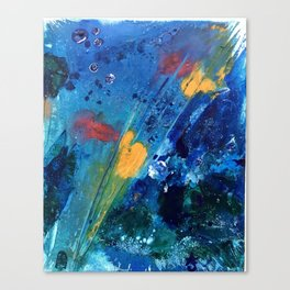 Views of Rainbow Coral, Tiny World Collection Canvas Print