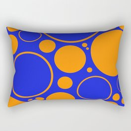 Bubbles And Rings In Orange And Blue Rectangular Pillow