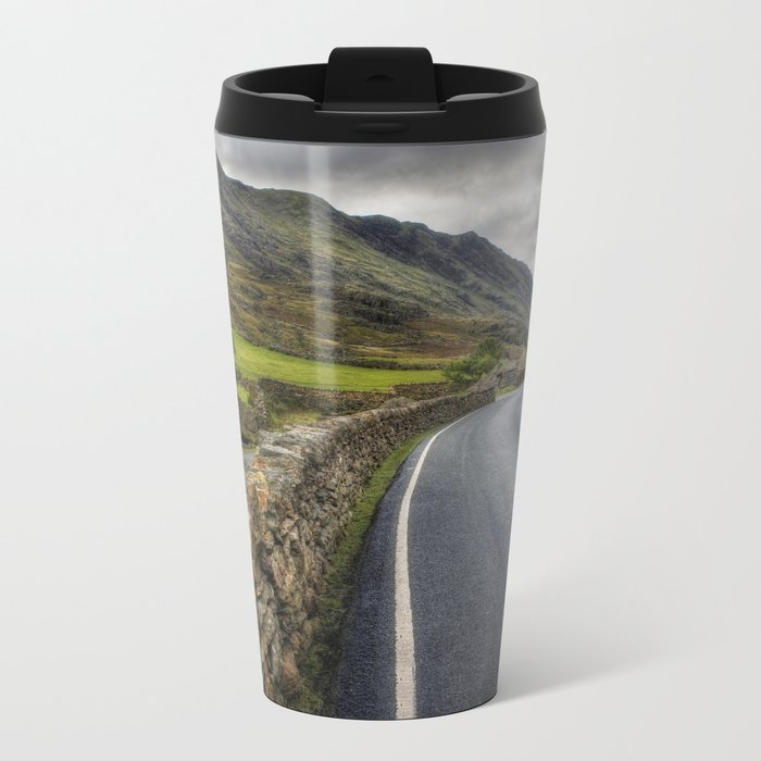 Llanberis Pass Winding Road Metal Travel Mug