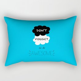 DFTBA TFIOS Nerdfighter Vlogbrothers Don't Forget to be Awesome, The Fault in Our Stars, John Green Rectangular Pillow