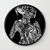 maori Wall Clocks featuring Opposite Maori by SarinneG