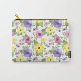 Spring Bouquet Watercolor Carry-All Pouch