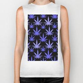 Marijuana Violet Blue Weed Biker Tank
