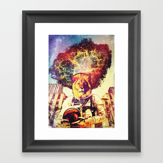 He Came At The Very End Framed Art Print