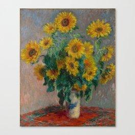 Sunflowers Monet Canvas Print