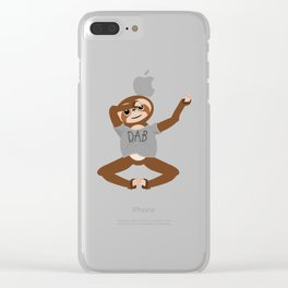 Sloth Dabbing Clear iPhone Case