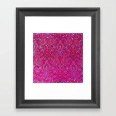 Paisley Jewels Framed Art Print