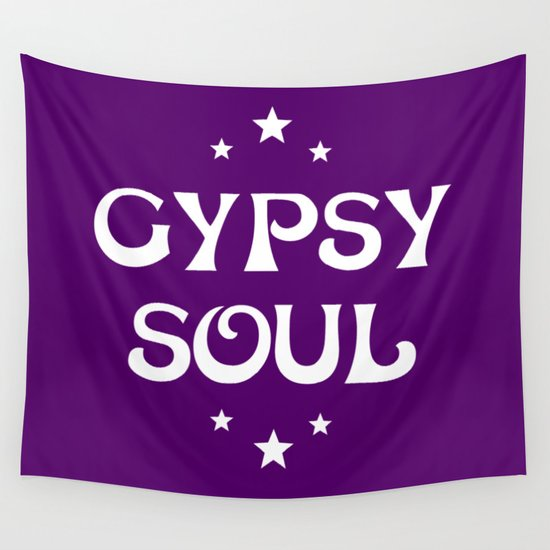Gypsy Soul Mystical Stars Purple Wall Tapestry