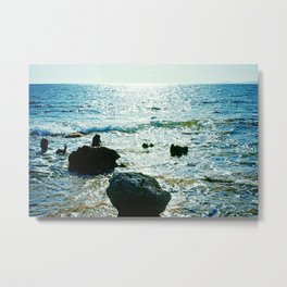 Rocks on the beach Metal Print
