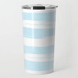 Pastel Blue Stripes Travel Mug