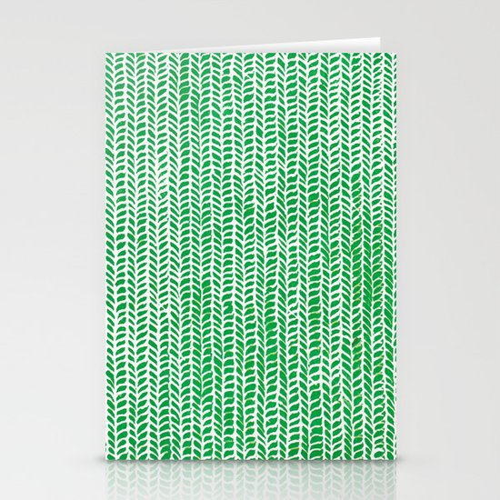 Stockinette Green Stationery Cards