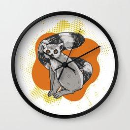 Lemur Cute Funny Animal Lemurs Wall Clock