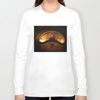 cafe Long Sleeve T-shirts featuring Cafe Kafka by Bella Blue Photography