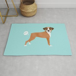 Boxer funny fart dog pure breed gifts dog lovers Rug