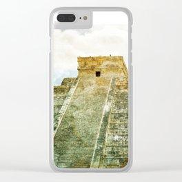 Chichen Itza pyramid Clear iPhone Case