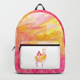 Strawberry Llama Fields Backpack