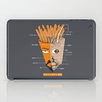 french fries iPad Cases featuring French Fries Anatomy by pigboom el crapo