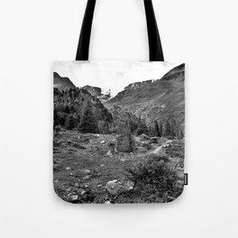 garden further alps kaunertal glacier tyrol austria europe black white Tote Bag