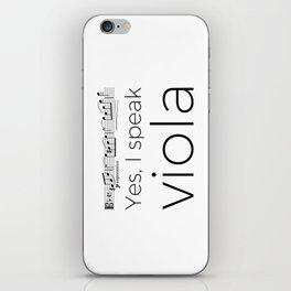 Yes, I speak viola (Glinka) iPhone Skin