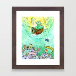 AQUAMAN - or - NOVEMBER 9, 2016 Framed Art Print