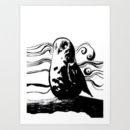 Mist Owl Art Print