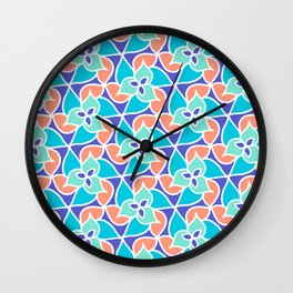 Palm Blooms Wall Clock